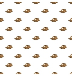 Sandals pattern cartoon style vector