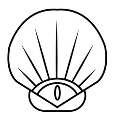 sea shell icon outline style vector image
