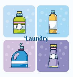 Set of detergent bottles vector