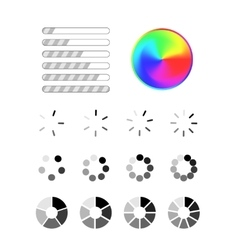 Set of different progress bar icons vector image