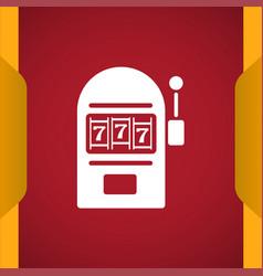 Slot machine icon vector