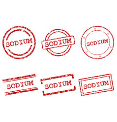 sodium stamps vector image