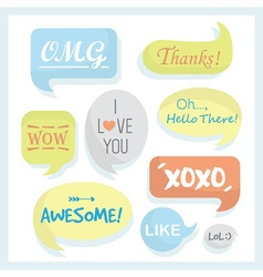 Speech bubble card vector