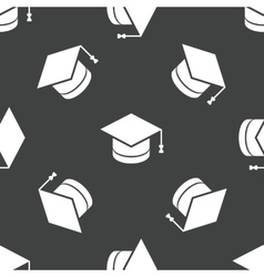 Square academic cap pattern vector image