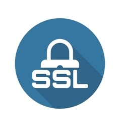 SSL Secured Icon Flat Design vector image