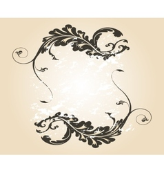 Stylish vintage floral frame Design for vector