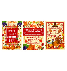 thanksgiving day holiday greeting banner design vector image
