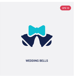 two color wedding bells icon from birthday party vector image