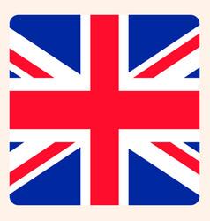 Uk square flag button social media communication vector