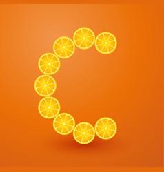 Vitamin c composed lemon vector