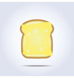 White bread toast icon with cheese vector