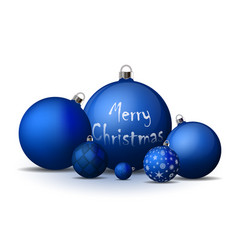 Xmas and new year decorations blue christmas vector
