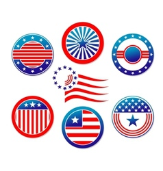 American national banners and symbols vector image