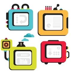 Cartoon banner machines vector