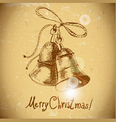 Christmas bell Vintage background vector image vector image