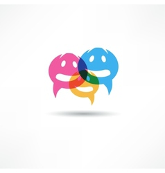 Dialog speech bubbles vector image vector image