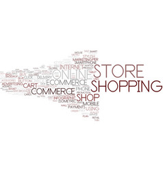 E-store word cloud concept vector