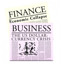 fictitious economical newspaper vector image