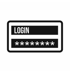 Login and password icon simple style vector image vector image