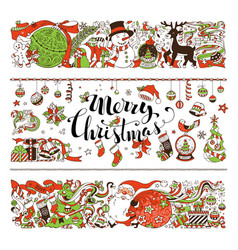 merry christmas decorations and design elements vector image vector image