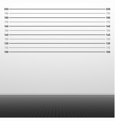 Police lineup background centimeters vector
