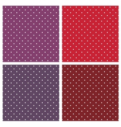 Seamless white polka dots background set vector image vector image