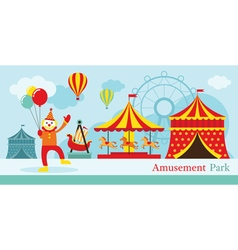 Amusement Park Circus Clown vector image