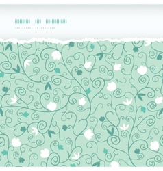 Blossoming Branches Horizontal Torn Seamless vector image vector image