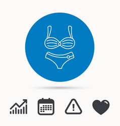 Lingerie icon women underwear sign vector