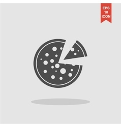 Pizza web icon vector image