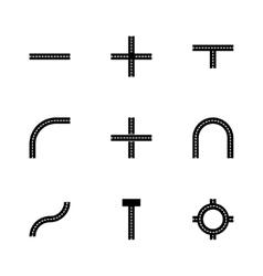 road elements icon set vector image vector image