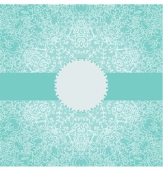 Vintage invitation card with round lace ornament vector
