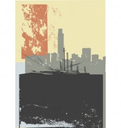 city grunge art vector image vector image