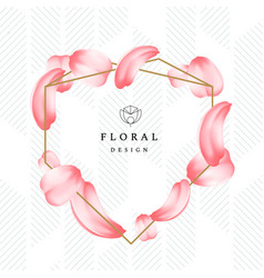 detailed tender petals of roses or sakura with a vector image