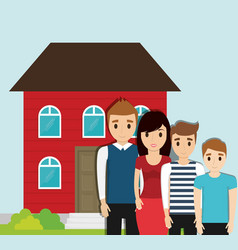 Family home together image vector