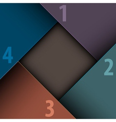 Paper number background vector image vector image