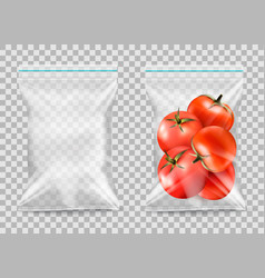 polypropylene plastic packaging - nylon sack on vector image