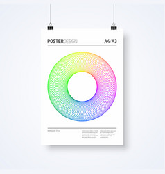 poster design abstract template in minimalism vector image vector image