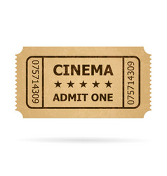 retro cinema ticket of designer on a white vector image vector image