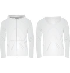 white hoodie vector image