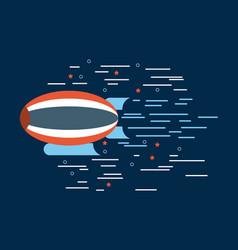 Zeppelin red white blue over navy background image vector