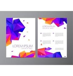 flyer orange and purple brochure abstract vector image