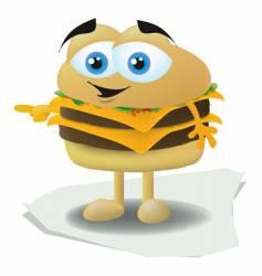 hamburger face vector image vector image
