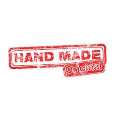 Hand Made Original red grunge rubber stamp vector image