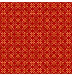 Abstract Seamless geometric floral pattern vector image
