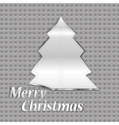 abstract steel christmas tree vector image