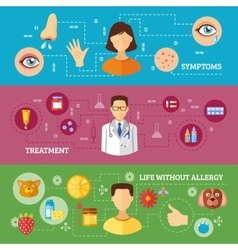 Allergy Symptoms Medical Treatment Horizontal vector