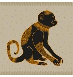 Anima monkey cool vector image