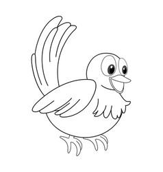 Animal outline for little bird vector