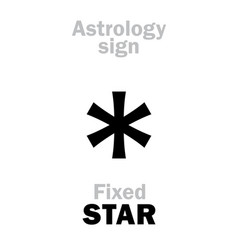 Astrology star fixed vector